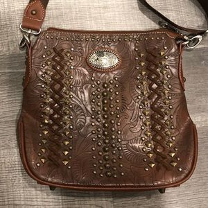 Montana West brown crossbody conceal carry purse